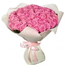 Букет из нежно-розовых роз (51 шт.)