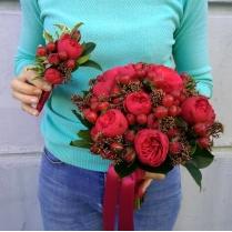 Букет невесты из пионовидной розы Пиано